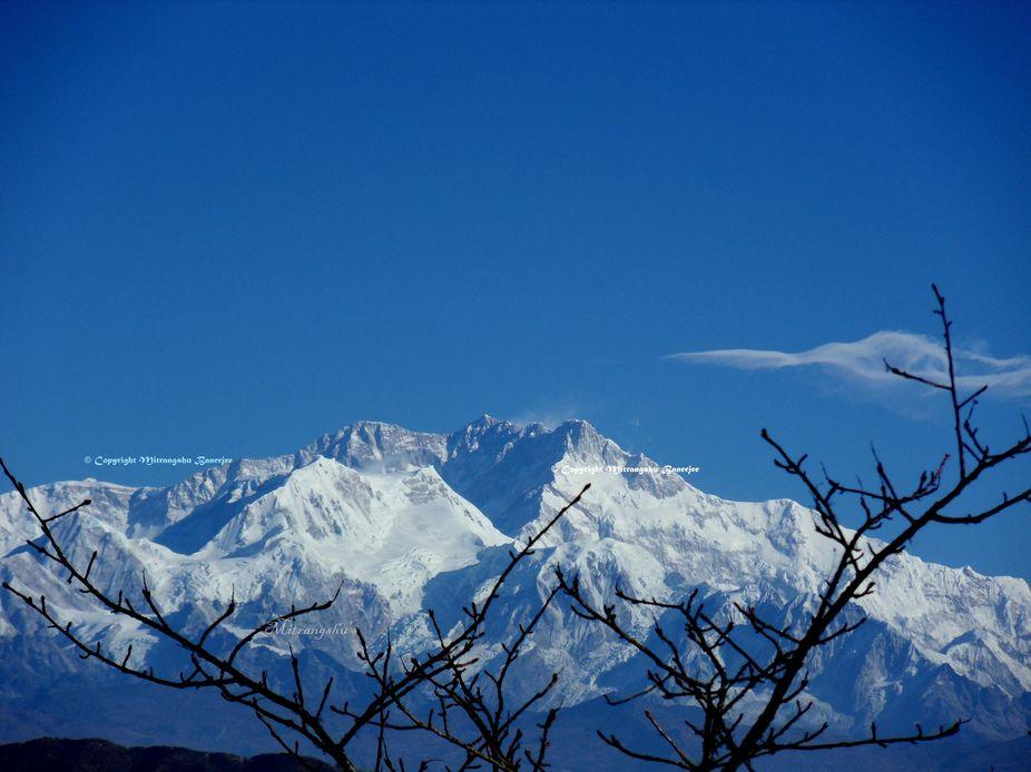 Kanchenjunga from Indo Nepal Trekking rout.
