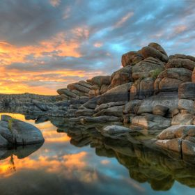 Sunrise at Watson Lake in Prescott, AZ