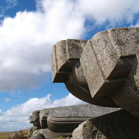 A study of abandoned corbels, originally destined for London Bridge. Today, they are still to be found in the disused Dartmoor quarry where they ...