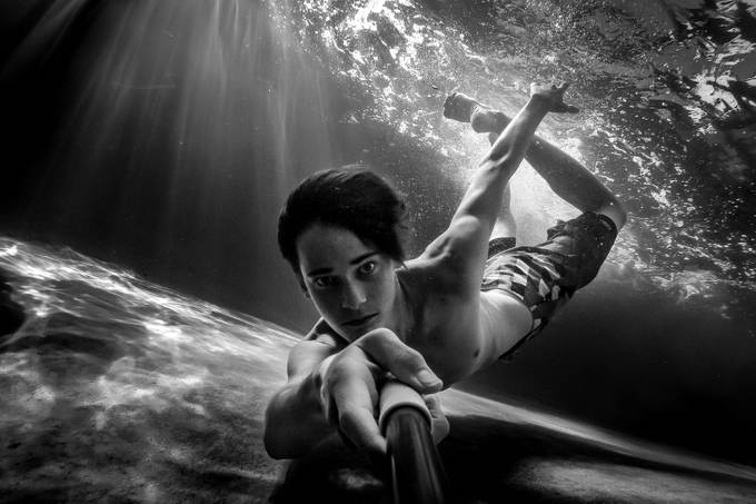 Selfie in the Deep by wyattbrown - Adventure Bound Photo Contest