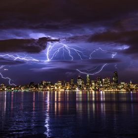 Story behind the photo: Thunderstorms in Seattle are very rare (happens maybe a few times a year at most), so I couldn't pass up the opportunity ...