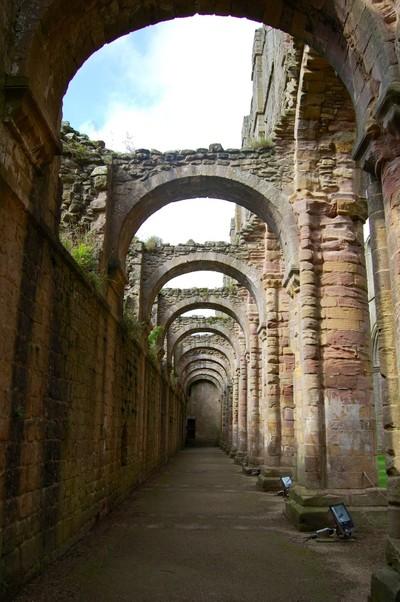 Between the Church ruin & the Cellarium
