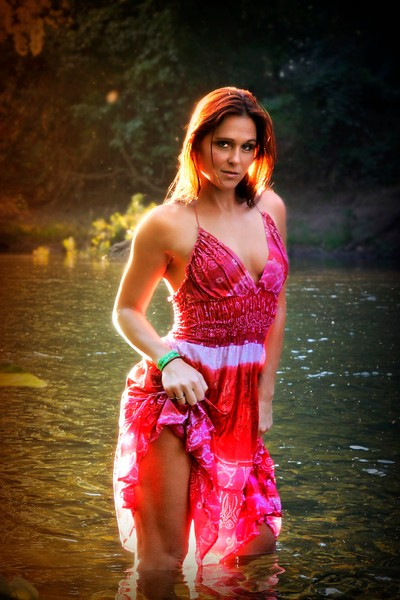 kim at the river