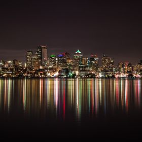 Taken last night at Gas Works Park. After a slight wind in the evening, the water smoothed out and became glassy around 11PM for about 20 minutes...