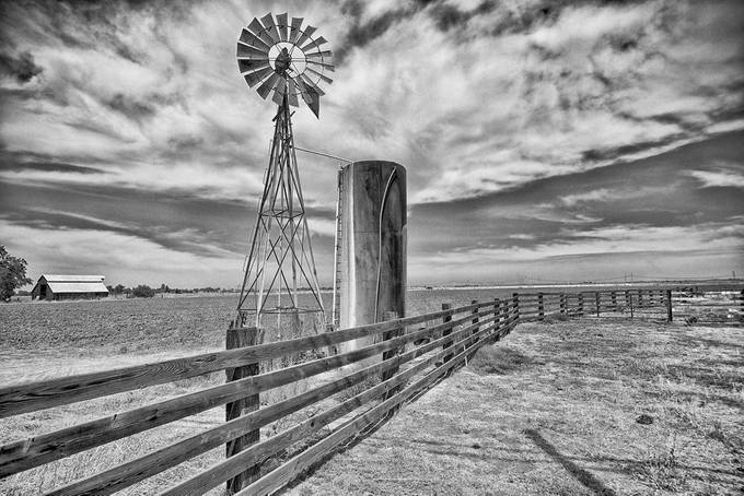 Along the Fence by rhmimages - 200 Windmills Photo Contest