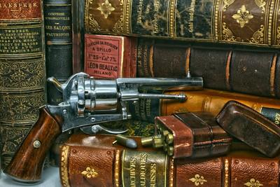 Belgian 7mm Pinfire Pistol with Cartridge Case