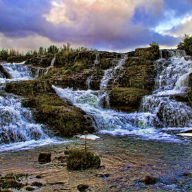 This waterfall is in our capital Reykavik,Iceland,it's a valley,called