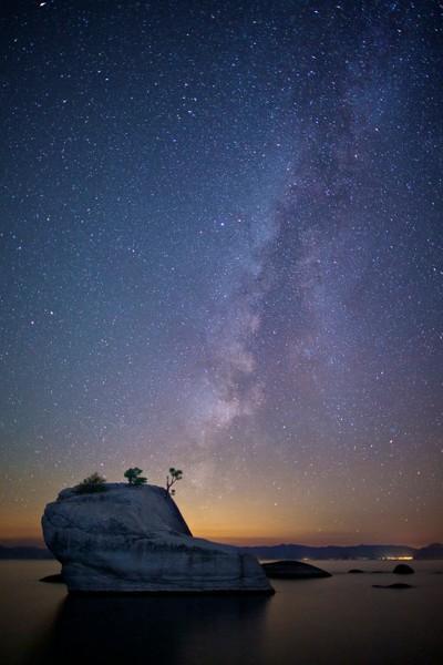 Starry Night over Bonsai Rock