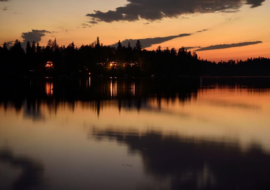 Evening Lake in Central Alberta