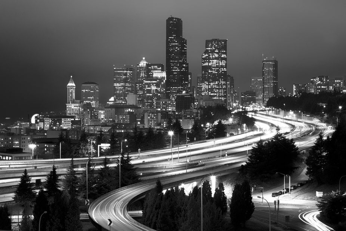 Seattle Noir by kenmcall - Playing With Light Photo Contest