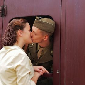 when these WW2 young men went off to fight, did they realise that the LONG KISS GOODBYE, might be the last time they ever Kissed their sweetheart...