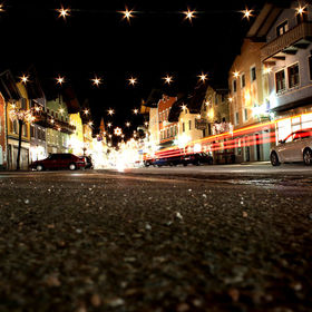 The town of Golling in Austria at night around Christmas time. Shot with a Canon EOS 600D with an 18-55mm lens.