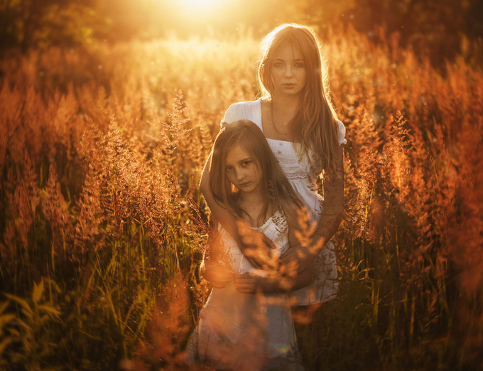 Golden Sisters by przemyslawchola - Children In Nature Photo Contest