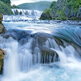 The fascinating Una-Cascade at the Una-Nationalpark in Bosnia