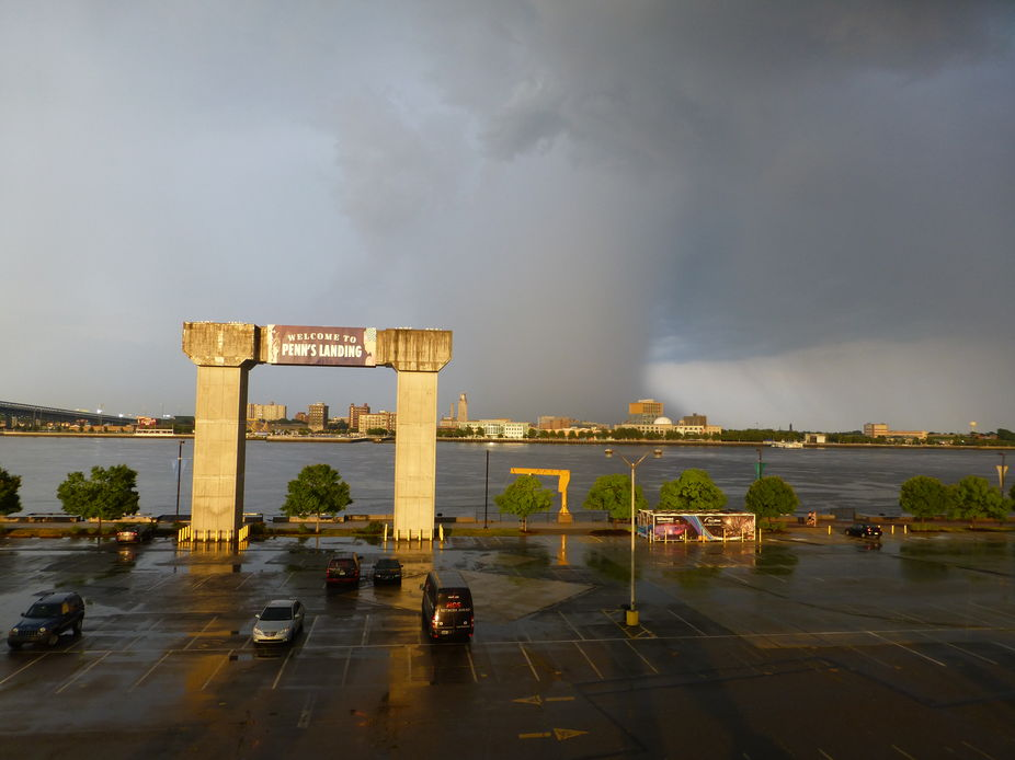 Retreating storm over Philadelphia June 2013.
