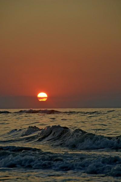 sunset in rodi