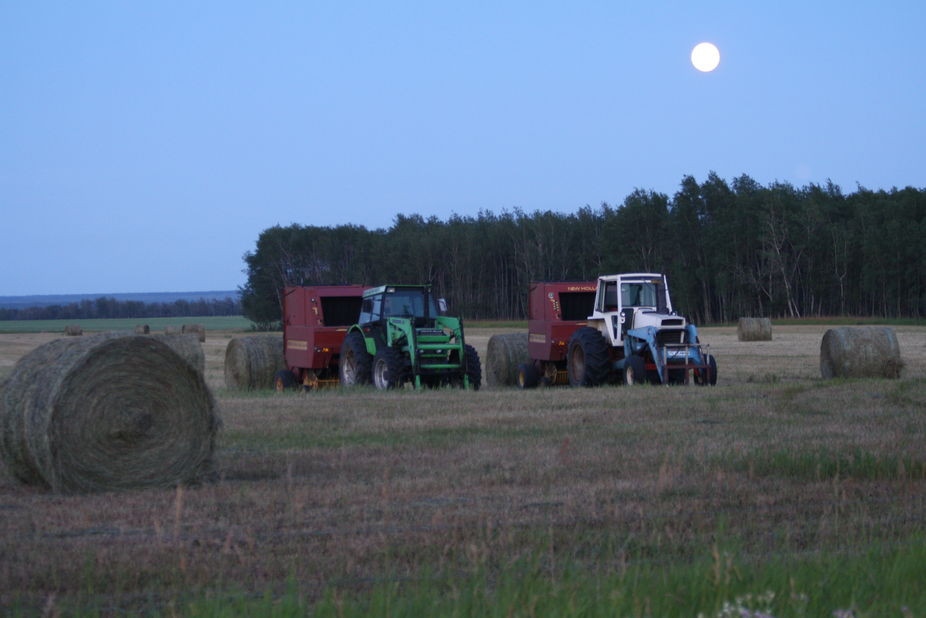 The last bales are all wound up..