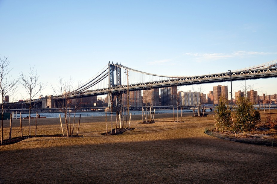 Manhattan Bridge in the distance
