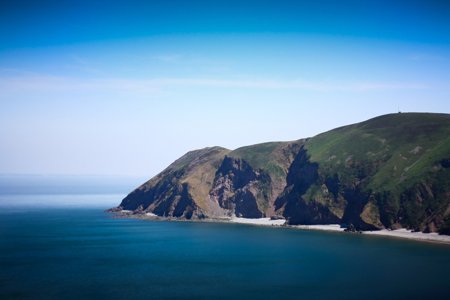 A stunning view of the North coast of Devon, England