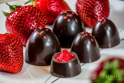 Wild Strawberry Truffles