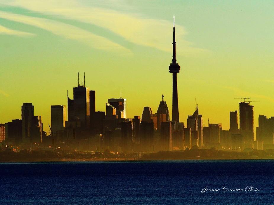 Early morning sun on Toronto Ontario