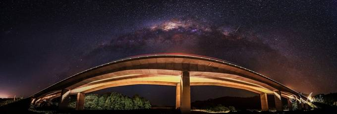 Bridge to the Milky Way panorama edit #2 by Mack_Photography - Under The Bridge Photo Contest