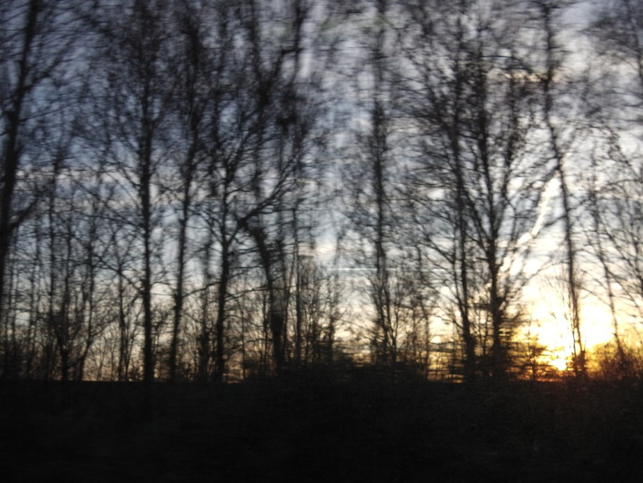 On the way as the sun rises
