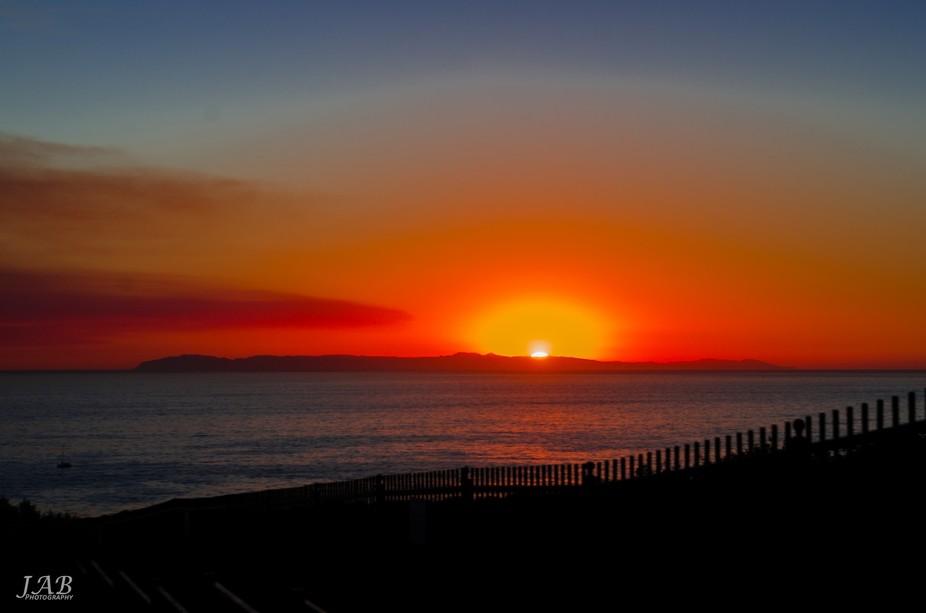 Sun Setting behind Catalina Island