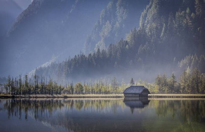 Lake hut by bruno001 - The First Light Photo Contest