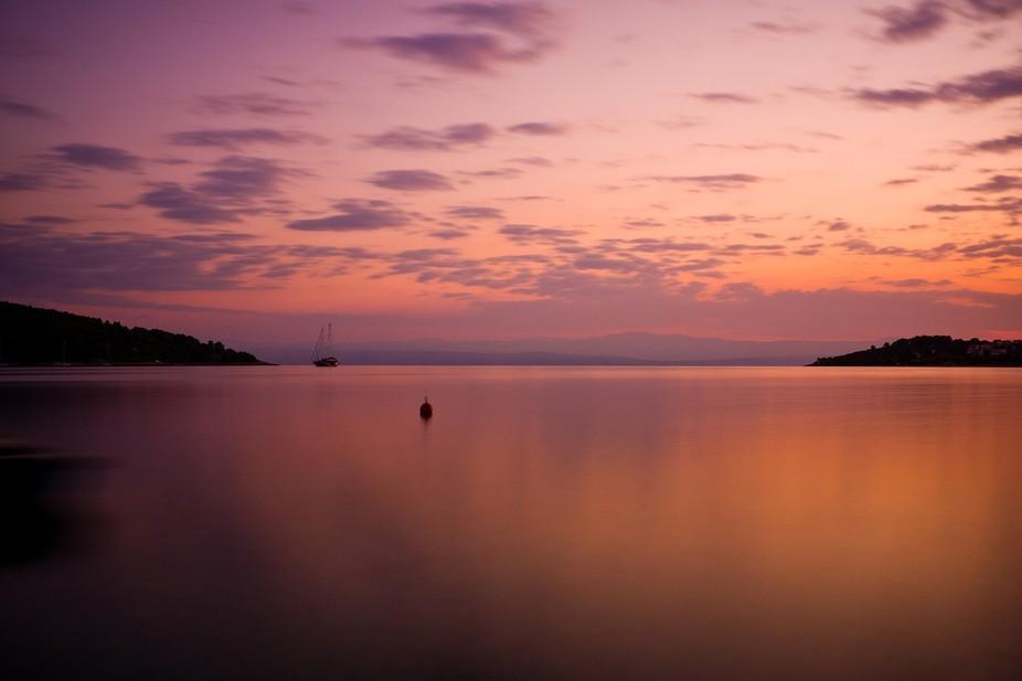 Necujam bay at dawn, island of Solta, Croatia.