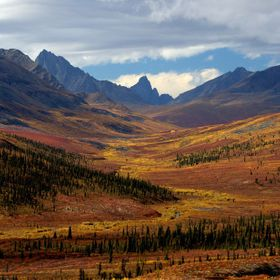 This distinct mountain at the end of this valley was used by natives and early trappers to navigate through the Monolith Range in northern Yukon,...