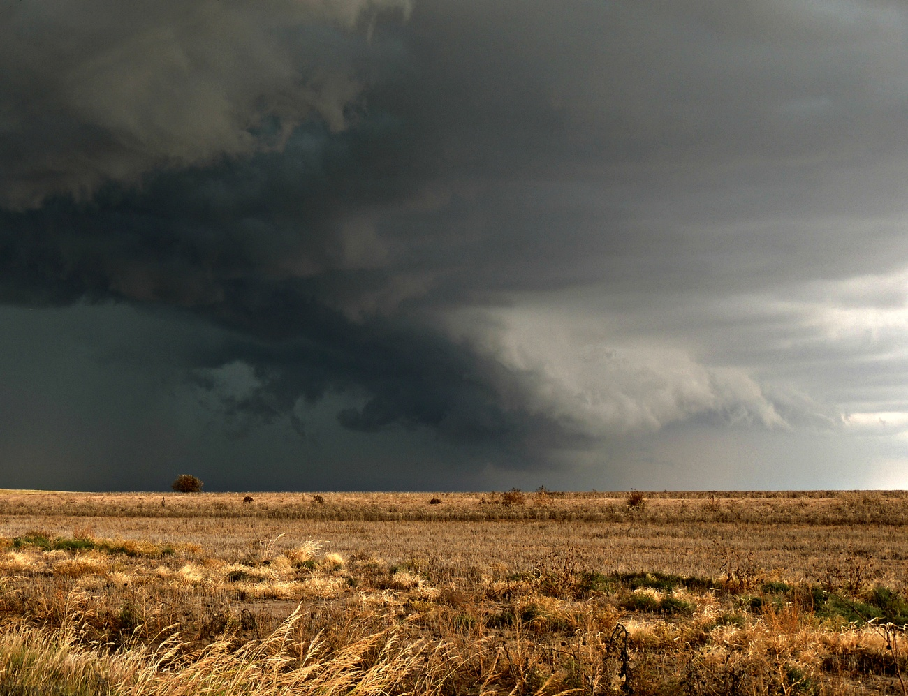Driving into a storm in the Texas Panhandle.