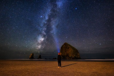 The Milky Way at Cannon Beach by Michael Matti