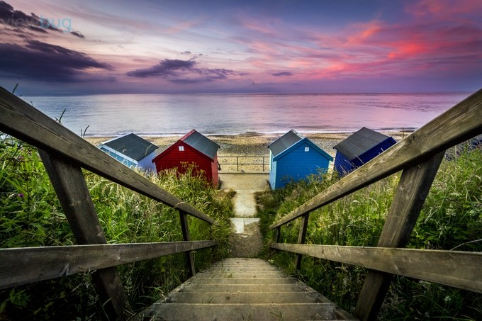 Beach Huts at Sunset by dpsmith - The Emerging Talent Awards