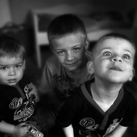 My 3 grandchildren all brothers pose for the camera!