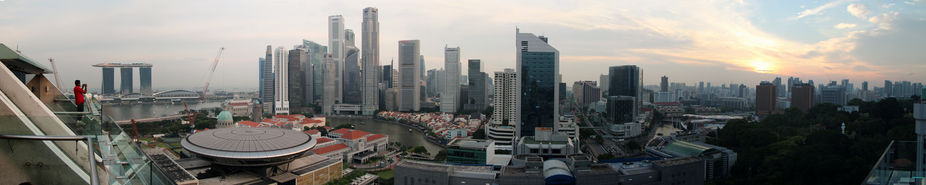 Taken from the sky lounge on the 22nd floor of The Peninsula Excelsior in Singapore on the 9th of...