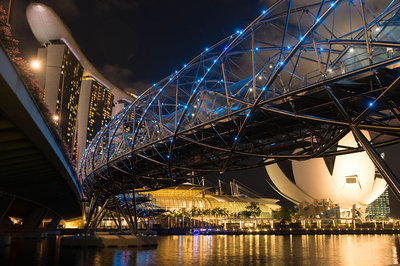 Bridge to Marina Bay Sands, Singapore