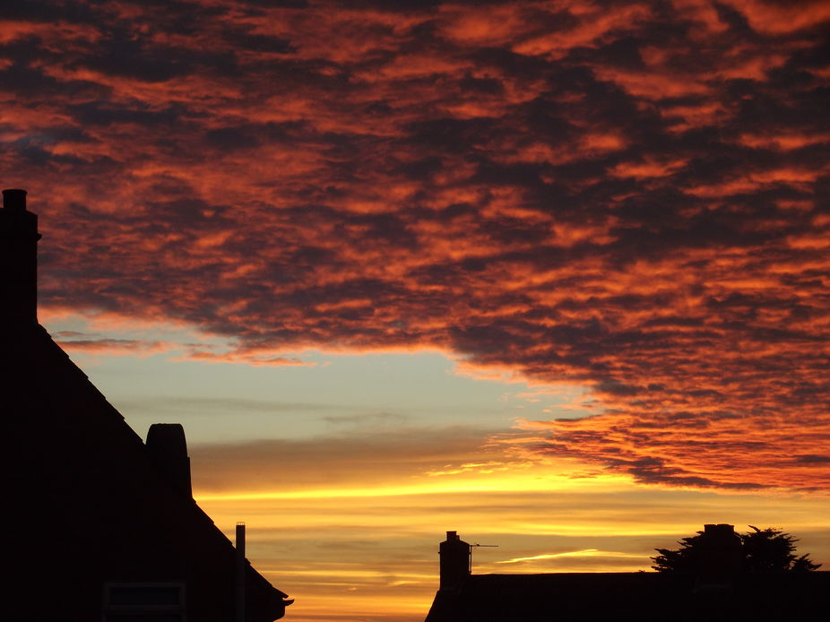 Shelley\'s Sunset over Wells in Somerset 2nd
