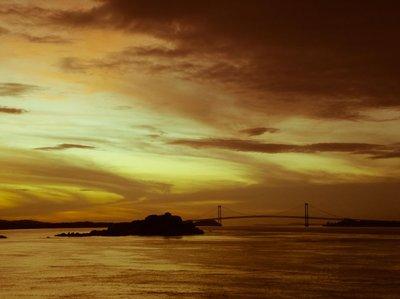 Golden sky, golden river