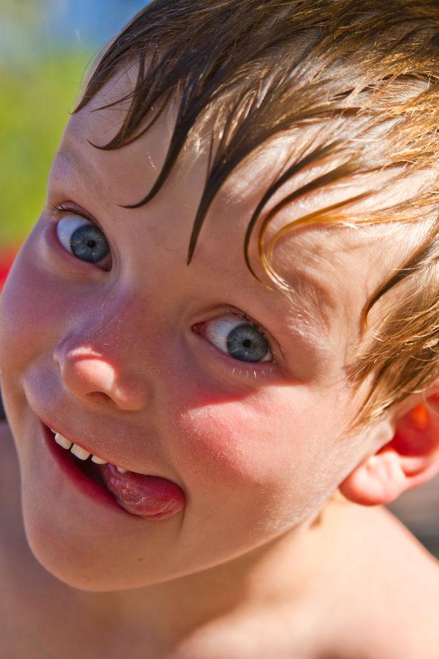 Grandson enjoying a water park.
