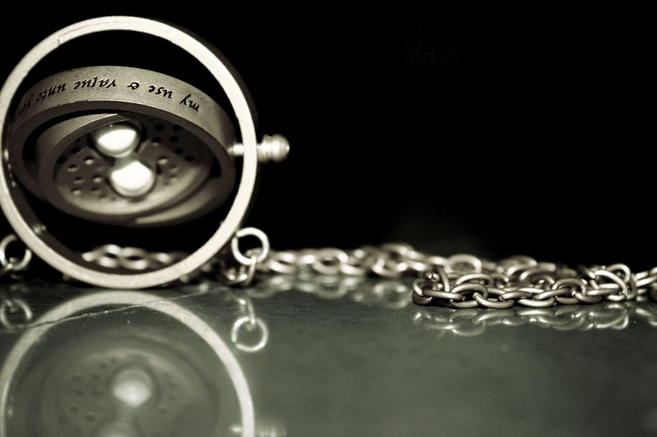 The Time-Turner was a device capable of time travel that resembled an hourglass on a necklace. Th...