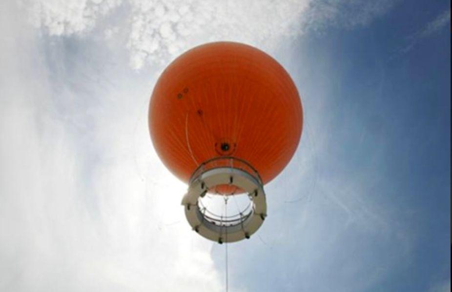 Giant orange ball