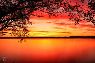 Bemidji Lake And the Ascending Sun