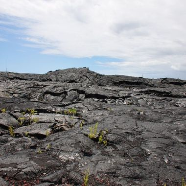 What a strange and eerie feeling it was standing on this Land of Frozen Fire...hardened lava flow.
