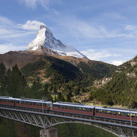 This train brings you to the Gornergrat.