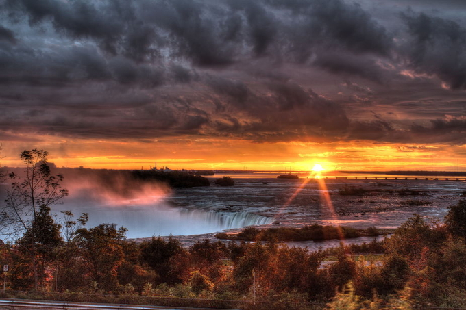 Niagara Falls HDR-12 by schnellerchris - Sun Flares Photo Contest