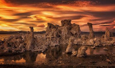 Strange Sunset, Mono Lake