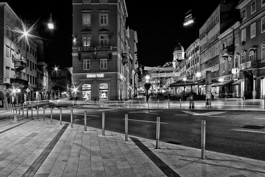 Main Square in Rijeka, Croatia