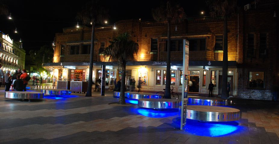 Sydney Manly at night