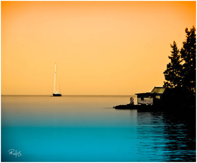 Yacht by Temple pastel and blue sureal